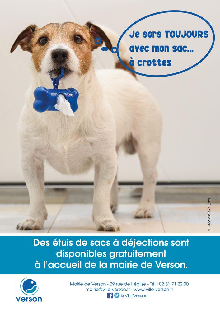 Campagne de sensibilisation lutte contre les déjection canines à Verson