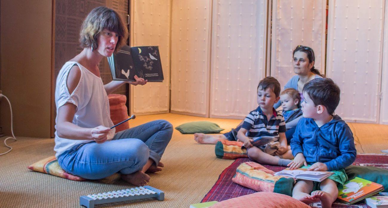 séances bébé lecteurs à la bibliothèque de Verson