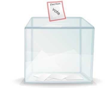 Urne pour voter lors des élections