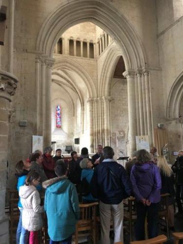 Visite de l'église de Verson